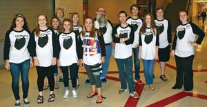 <p>The Heritage High School journalism staff includes (front row, from left) Elise Jones, Sarah Mason, Finley Brisendine, Kynsee Newton, Charles Tola, Novella Long and Samantha Ward; (back row, from left) Alyssa Helmes, Connor Harlan, Mallauri Cox, Wayne Ingle, Greyson Harris and Clay Mount. Not pictured: Emily Blevins, Kelli Buckles, Noah Clayton, Kaitlin Kibble, Emma Peterson and Ashton Sawyer. (Catoosa News photo/Samantha Ward)</p>