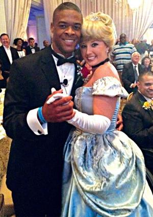 AJ Starr dances with Cinderella