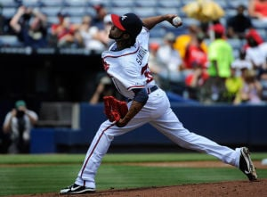 Santana, Gattis lead Braves to shutout against Padres
