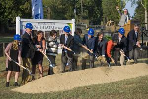 <p>Groundbreaking was held Tuesday for new theater. (Contributed photo by Sara Leimbach)</p>