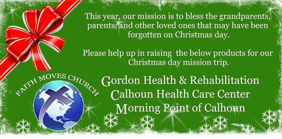 Faith Moves looking for donations for local Christmas Day mission trip