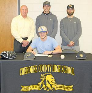 Colin Brewer signs baseball scholarship with Alabama-Huntsville