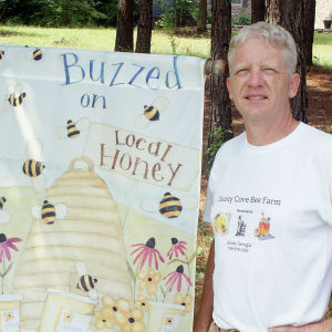 <p>Stephen Stewart, owner of Sunny Cove Bee Farm</p>