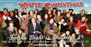 """<p>This holiday season, the classic musical """"White Christmas,"""" based on the 1954 Irving Berlin film, hits the Historic DeSoto Theatre stage on December 4, bringing the beloved characters of Bob, Betty, Phil and Judy to life as they travel to Vermont hoping to find success, love and snow. (Contributed photo)</p>"""