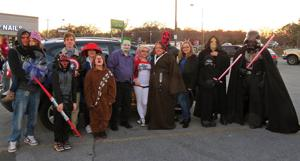 <p>Rocky Spurlock (dressed as the Joker) is the coordinator of Farley Con, a comics and wrestling conference that takes place in East Ridge in April. (Catoosa News photo/Tamara Wolk)</p>
