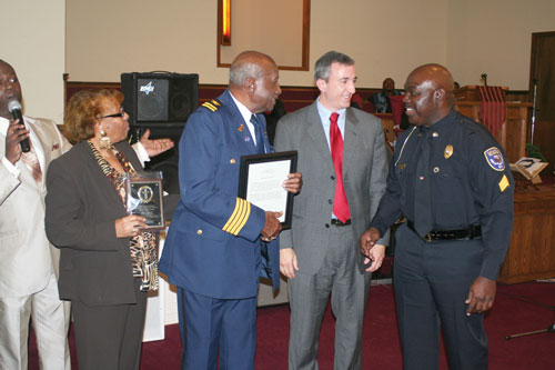 Calhoun's first black police officer honored