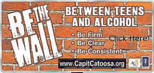"Catoosa alcohol prevention program begins ""Be The Wall"" campaign"