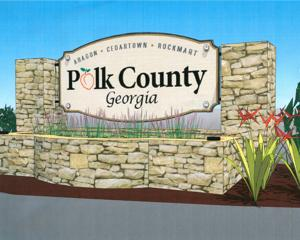 Polk County entryway signage