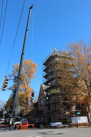 Portion of East First Street closed during St. Peter's renovation