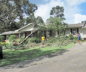 Lakeview residents in Polk County recovering from Saturday storm