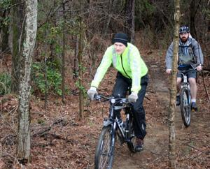 Hikers, bikers and family dedicate new GE Trails at Garrard Park