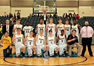 <p>The Cherokee County Warriors claimed a 56-46 victory over the Piedmont Bulldogs on Saturday to win the Cherokee County Boys Basketball Invitational Tournament championship. Team members are Justin McKnight, Jacob Graves, Trenton Edwards, Preston Grimes, Morgan Ray, Logan Green, Colin Edwards, Jaren Lockridge, Joel Wester, J.T. Hill, Tyren Dupree, Nahum Horton and Quartez Henderson. The Warriors are coached by Neal Wester. Assistant coach is Justin Taylor. Photo by Shannon Fagan.</p>