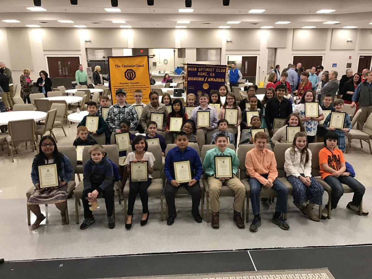 2017 Terrific Kids honored by Noon Optimists