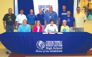 Gordon Central's Bryan Brookshire signing