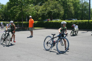 <p>Triathletes start the cycling portion of the Tri for the Kids Youth Triathlon on Sunday at Darlington School. (Kristina Wilder / Rome News-Tribune)</p>