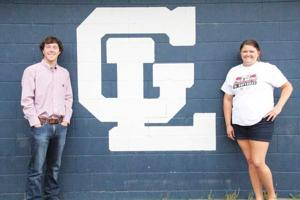 <p>The 2016 Walker County Athletes of the Year - Tucker Bradley and Emily Armour of Gordon Lee. (Messenger photo/Scott Herpst)</p>
