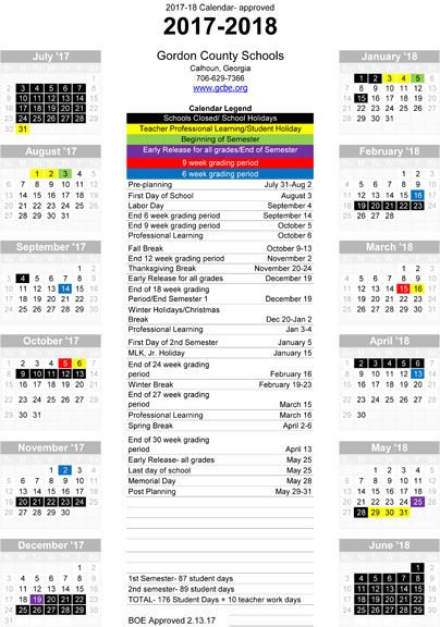GCBE approves school calendar for next three academic years