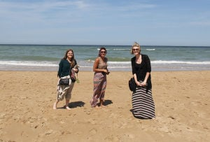 Students visit Normandy Beach