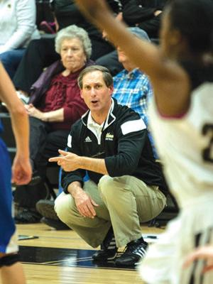 <p>Calhoun coach Jerry Pruett looks on from the sidelines during a game this past season. (Cameron Flaisch, For the Calhoun Times)</p>