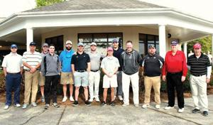 <p>Calhoun baseball alumni and coaches pose for a picture before the start of Saturday's tourney. (Larry Greeson, For the Calhoun Times)</p>