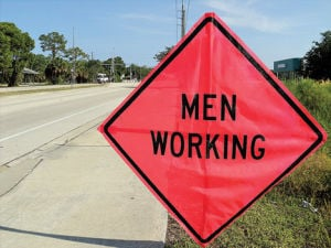 Weather delays intersection work