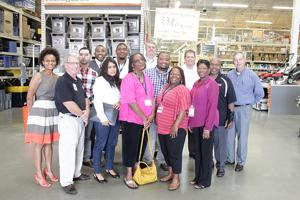 <p>CBB students and members of the CBB committee recently toured the Cedartown Home Depot during a networking event.</p>