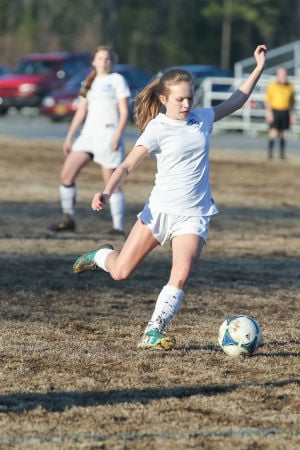 <p>Madison Poole scored two goals for the Lady Indians in their 10-0 win against the Coosa Lady Eagles on Friday. (Contributed photo)</p>