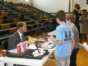 <p>Rockmart Middle students learned about various careers during their March career day event</p>