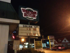 Western Sizzlin closes on Martha Berry Boulevard