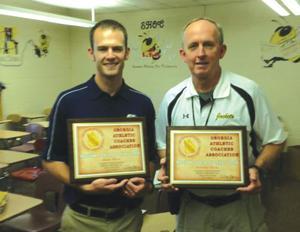 Calhoun coaches Matt and Randy Rice