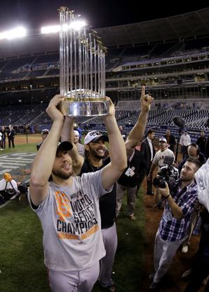 MLB: Champions again - Bumgarner, Giants beat Kansas City 3-2 in World Series Game 7
