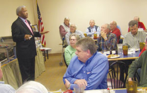 <p>Alabama Lieutenant Governor Candidate James Fields discusses some of his concerns during a recent meeting of the Cherokee County Democratic Club held at Lanny's Restaurant. Fields believes every voice should be heard and hopes to ensure that is the case if elected.</p>