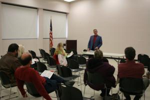 <p>Georgia Association of Educator's Fred Gould spoke on Nov. 13 to local educators.</p>
