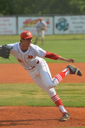 Rome High pitcher Bo Tucker