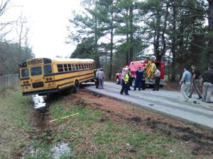 "<p>A School bus has been involved in a wreck with a Cadillac on Johnson Lake Road near where it <a href=""https://www.google.com/maps/place/Cornelius+Rd,+Cedartown,+GA+30125/@33.9804716,-85.288151,17z/data=!3m1!4b1!4m13!1m7!3m6!1s0x888aea17e1a4da9b:0x2f76fa11ad7307aa!2sCornelius+Rd,+Cedartown,+GA+30125!3b1!8m2!3d33.9821879!4d-85.2968821!3m4!1s0x888aea1b90474d5d:0x8103c7942ca71b5c!8m2!3d33.9804716!4d-85.2859623"" target=""_blank""><strong>intersects with Bradshaw Drive and Cornelius Road</strong></a>. (Kevin Myrick, Polk Standard Journal)</p>"