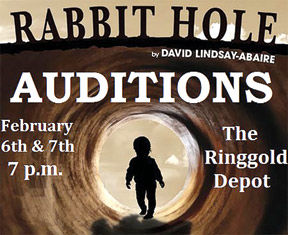 <p>Auditions will be held at the Ringgold Depot Monday, Feb. 6, and Tuesday, Feb. 7, at 7 p.m.</p>