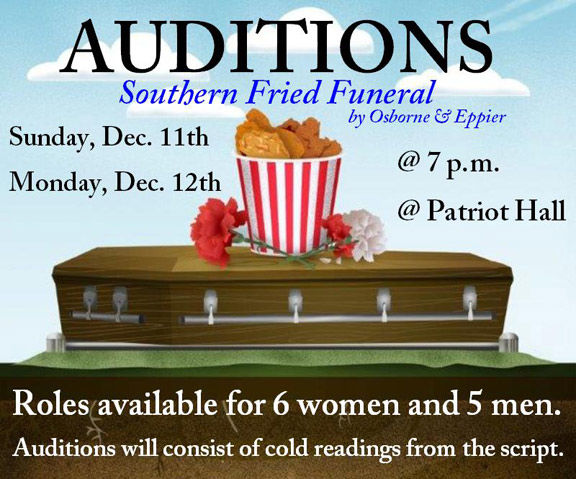 "Auditions for ""Southern Fried Funeral"""