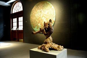 Julia Knight display at Shorter University's Arnold Art Gallery