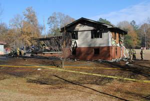 <p>Catoosa County Fire & Rescue crews battled a house fire Tuesday afternoon, Nov. 25, on Keith Road, in which five people were able to escape without injuries. (Catoosa News photo/Adam Cook)</p>
