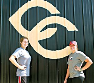 <p>Former Cherokee County High School standouts Tori Davis, left, and Kaitlyn Griffith will be holding a softball camp at the Cherokee County High School softball field on Aug. 4-5. Photo by Shannon Fagan.</p>