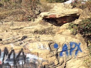 Graffiti at Hook Overlook