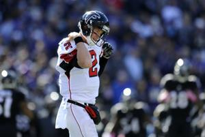 Woes continue for reeling Falcons in road loss to Ravens