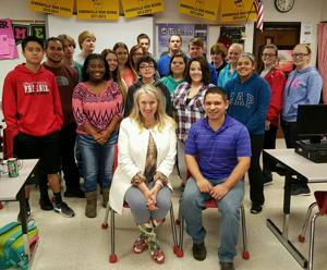 Shaw Industries employee helps SHS students, Camp New Adventure as a Junior Achievement instructor