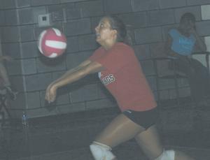 Dawson volleys