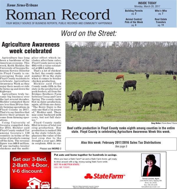 Roman Record - March 20, 2017