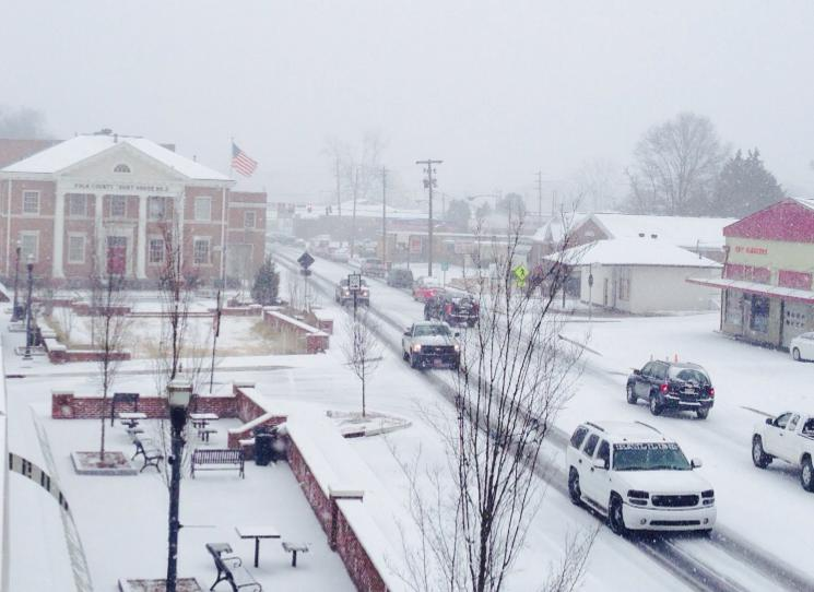 Cedartown snow downtown