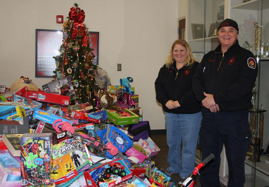 Toys For Tots Font : Rome floyd firefighters gathering donations for toys