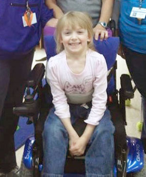 Georgia Rampage raising money to help with Ansley's wheelchair