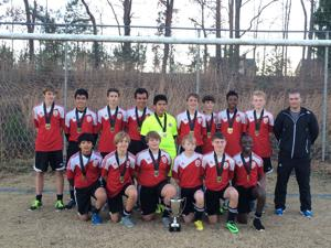 <p>The team is made up of Libni Ramirez (front row, from left), Alex Nelson, Jack McCreless, Hunter Mathis, Blake Abney, Mutsa Nyamuranga, Houston Read (back row, from left), Ramiro Alanis, Cooper Williams, Nic Seijo, Eduardo Fajardo, Wes Lorrens, Emmanuel Donner, Rahdriq Turner, Lane Koch and coach Mark Beattie. (contributed photo)</p>