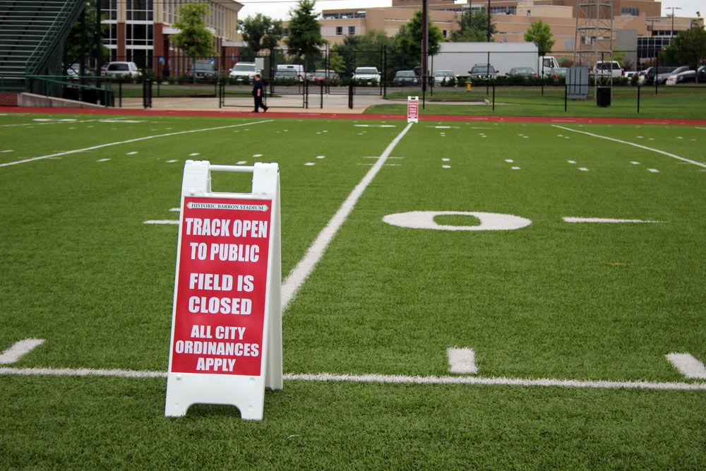 Barron Stadium field off limits